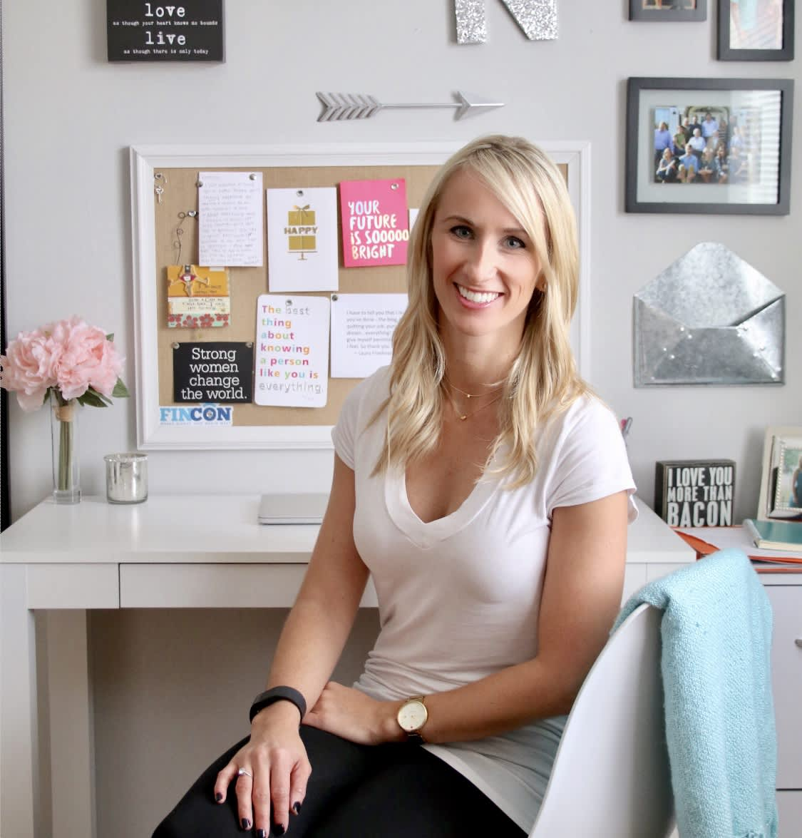 Natalie Bacon ran a personal finance blog on the side while pursuing a financial advisor career.
