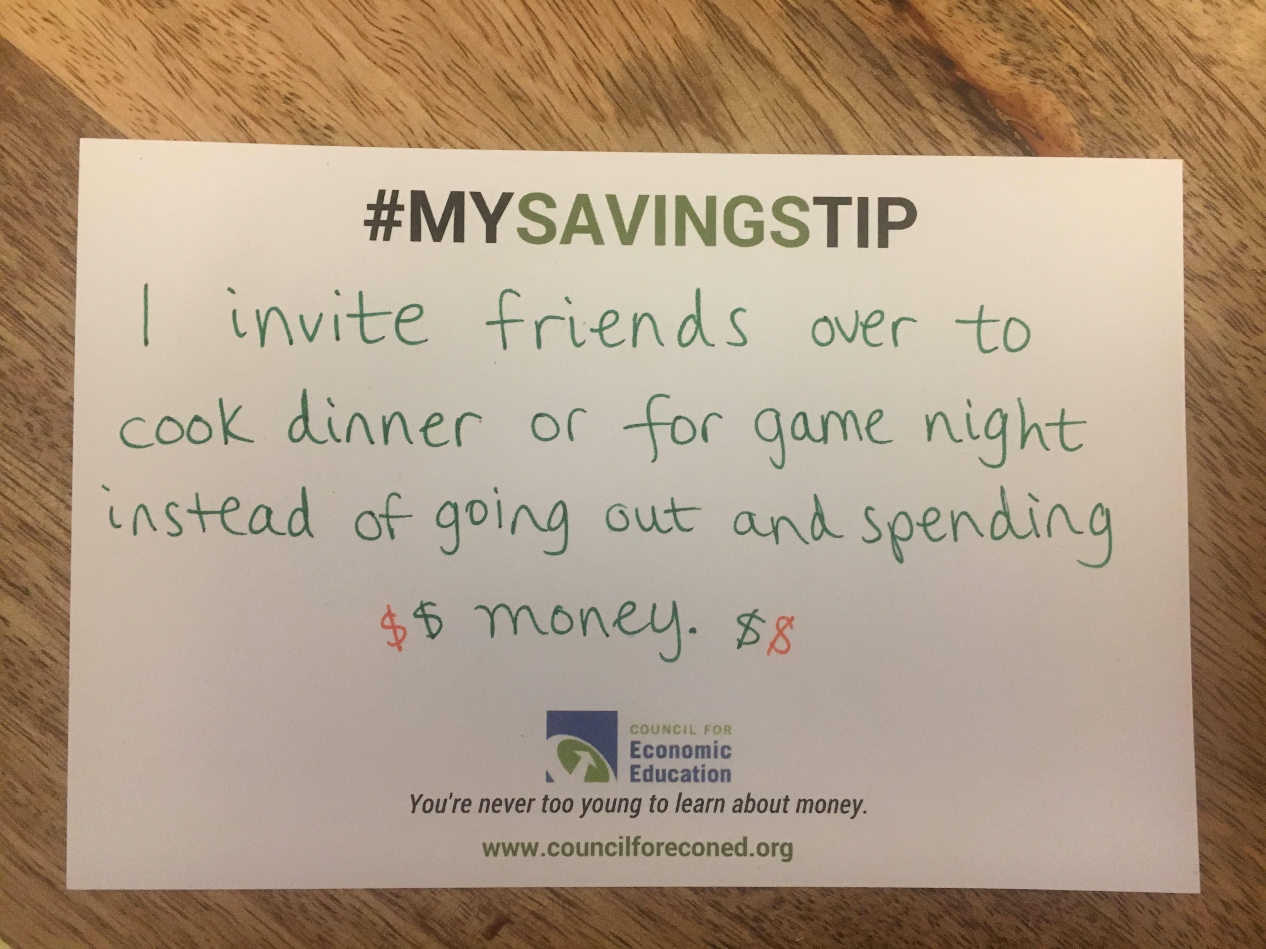Megan Hess savings tip