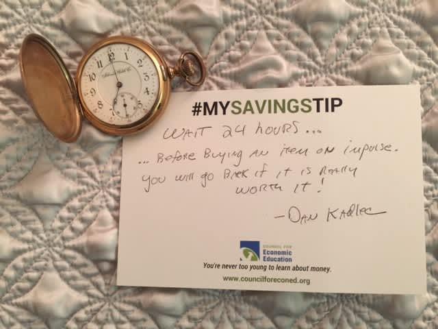 Dan Kadlec savings tip