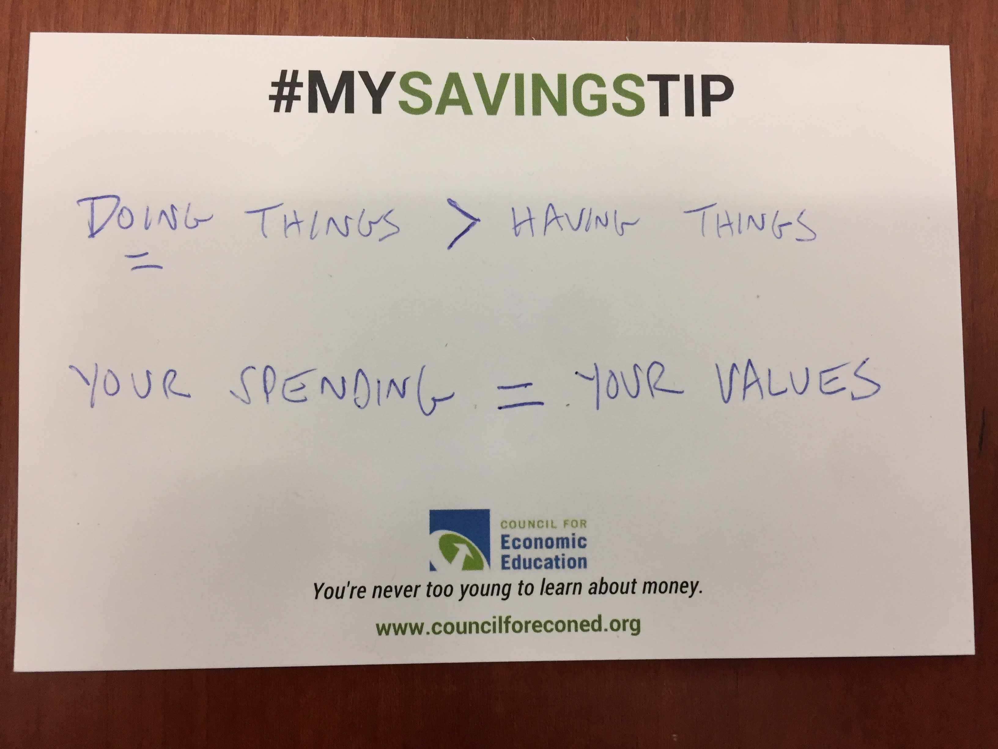 Ron Liber savings tip