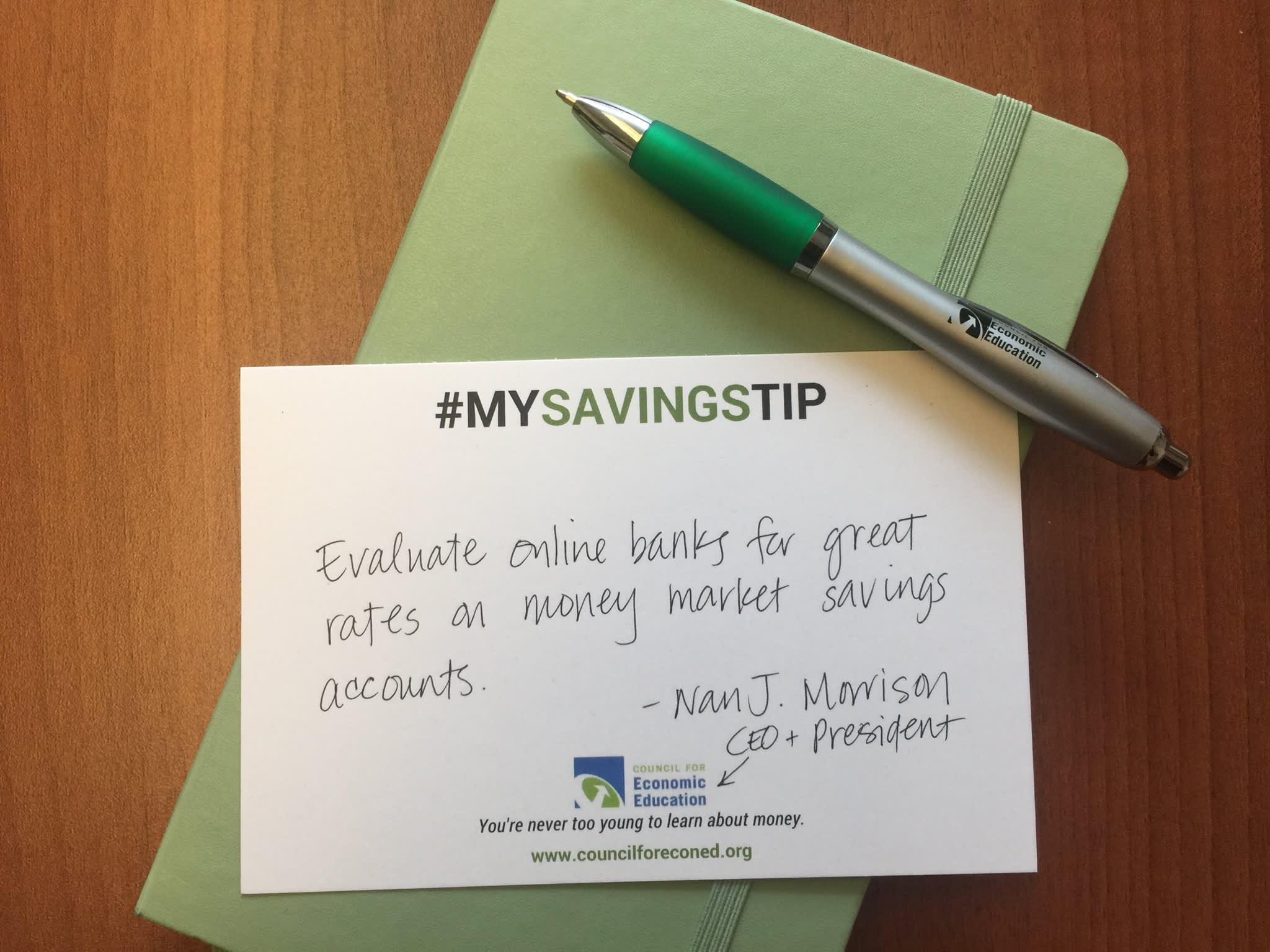 Nan J. Morrison savings tip