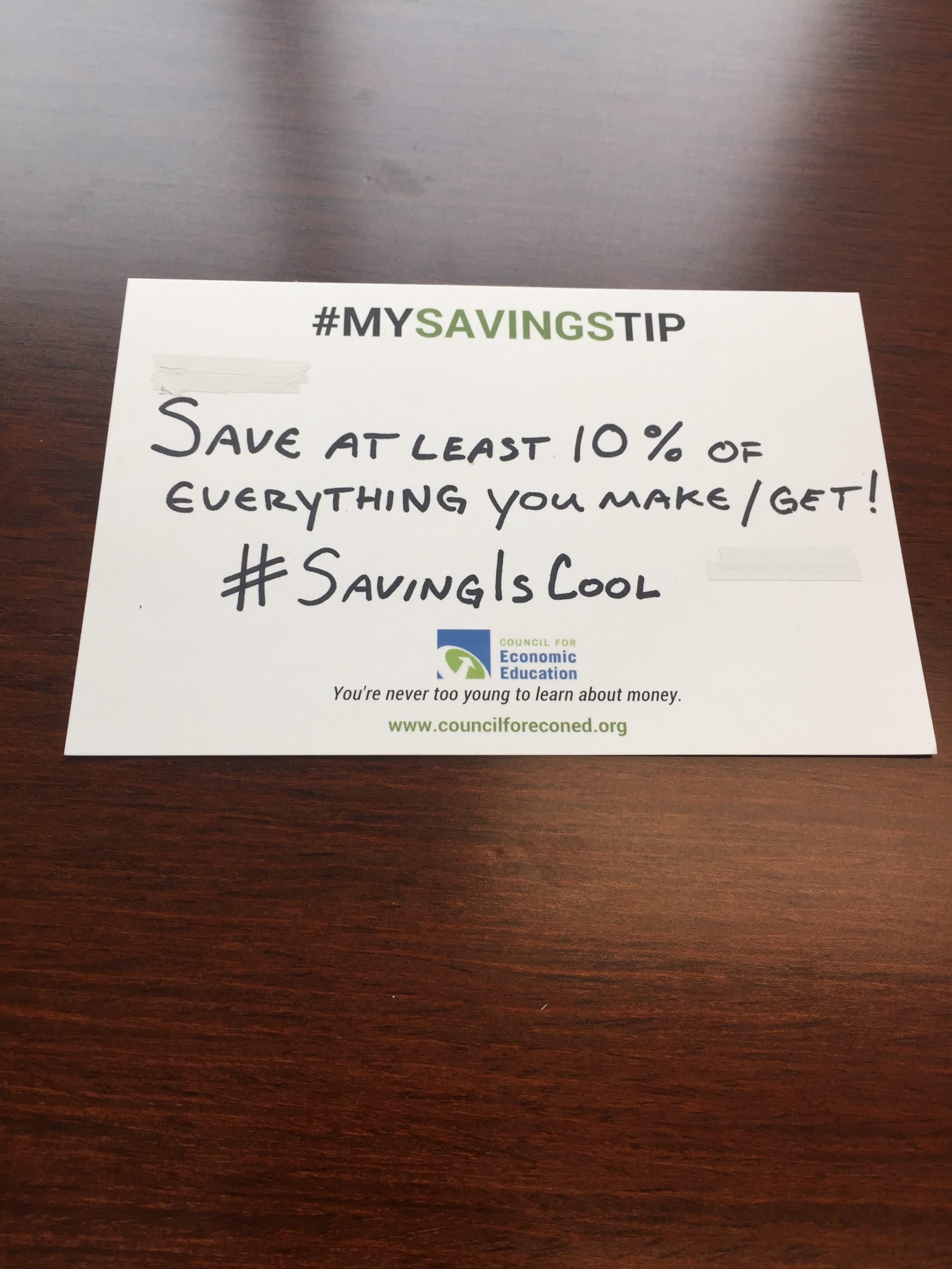 Chris Siegfried savings tip