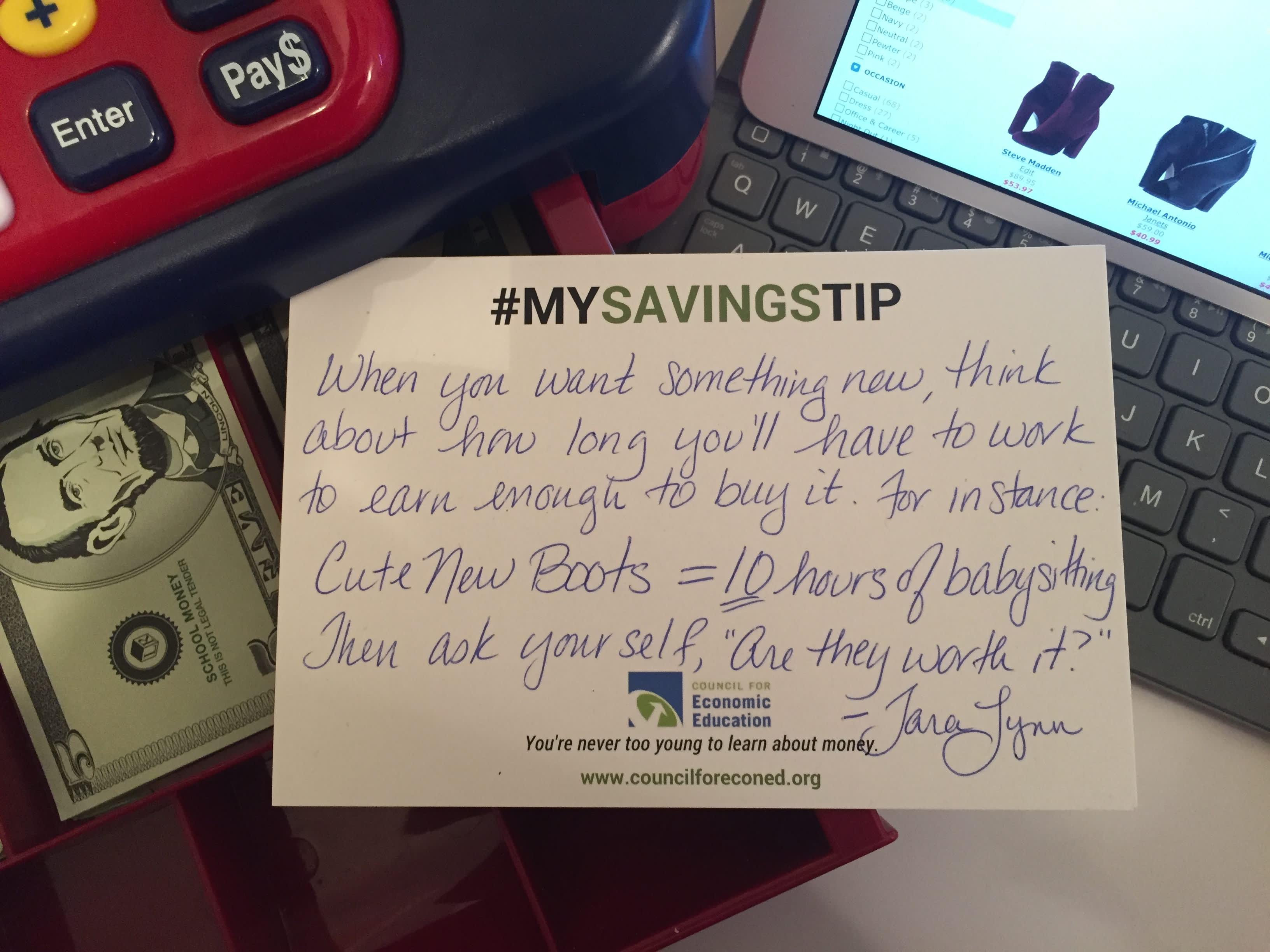 Tara Lynn Wagner savings tip