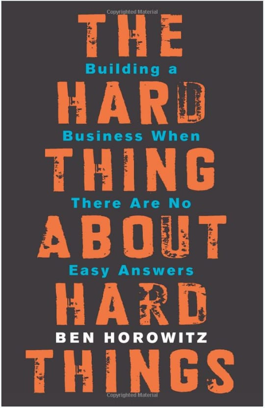 Chart asset: Hard Thing About Hard Things book