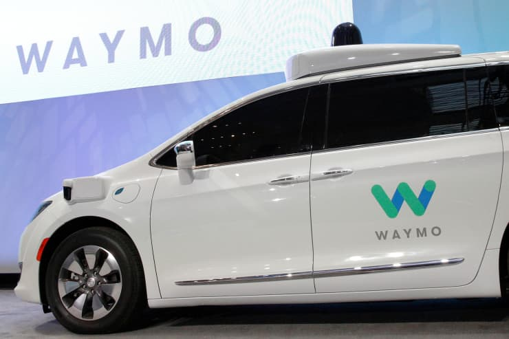 RT: Waymo self-driving minivan