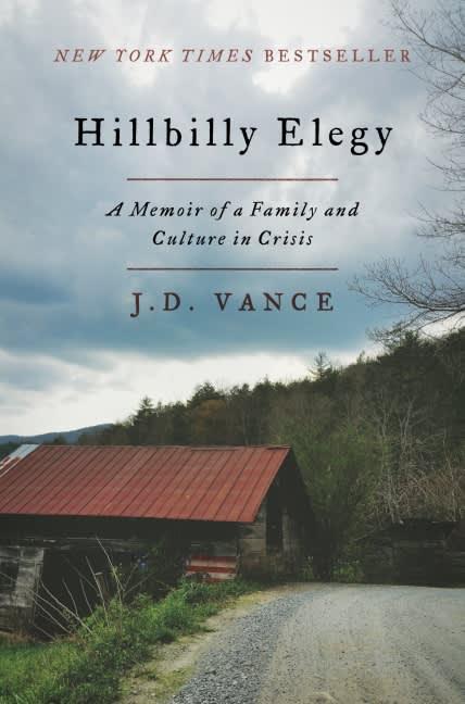 Hillbilly Elegy by J.D. Vance book cover