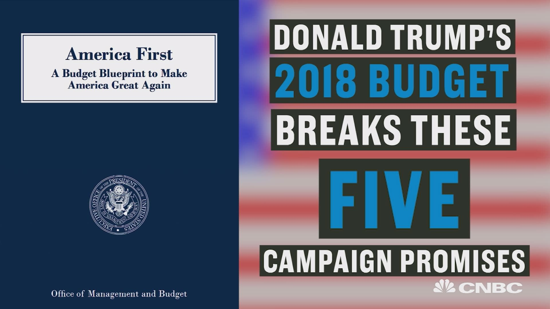Donald Trump s bud breaks these five campaign promises