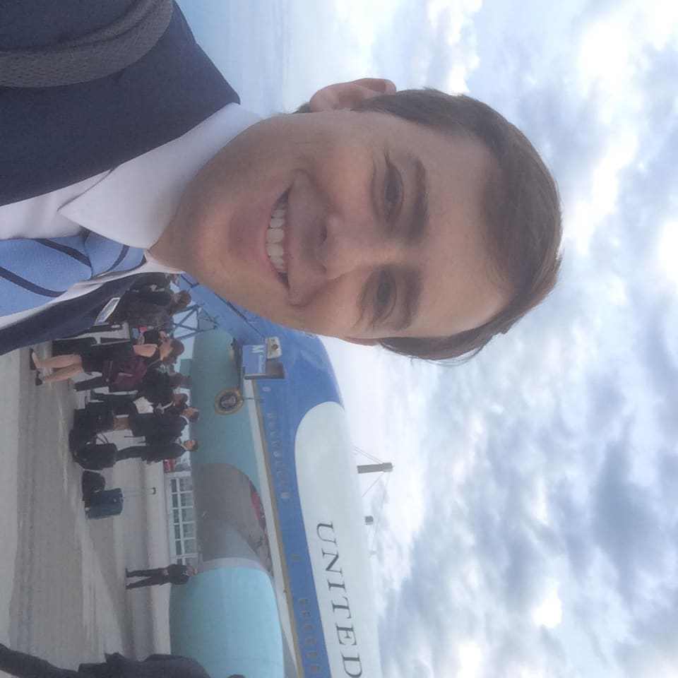 HANDOUT David Litt with Airforce One