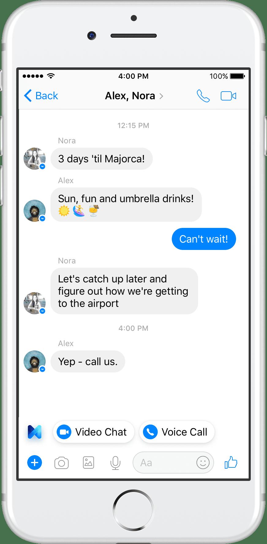 Facebook Messenger M call 2