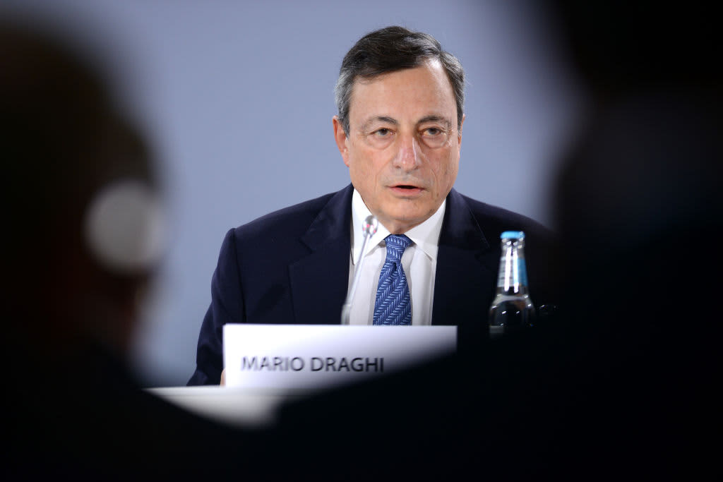 German yields bounce off record low after Draghi says recession risk is 'pretty low'