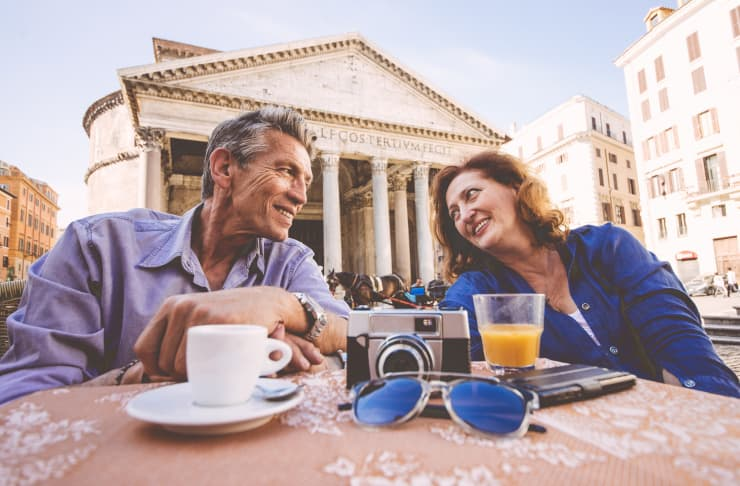 Premium: Rome vacation retiree couple Italy trip 170707