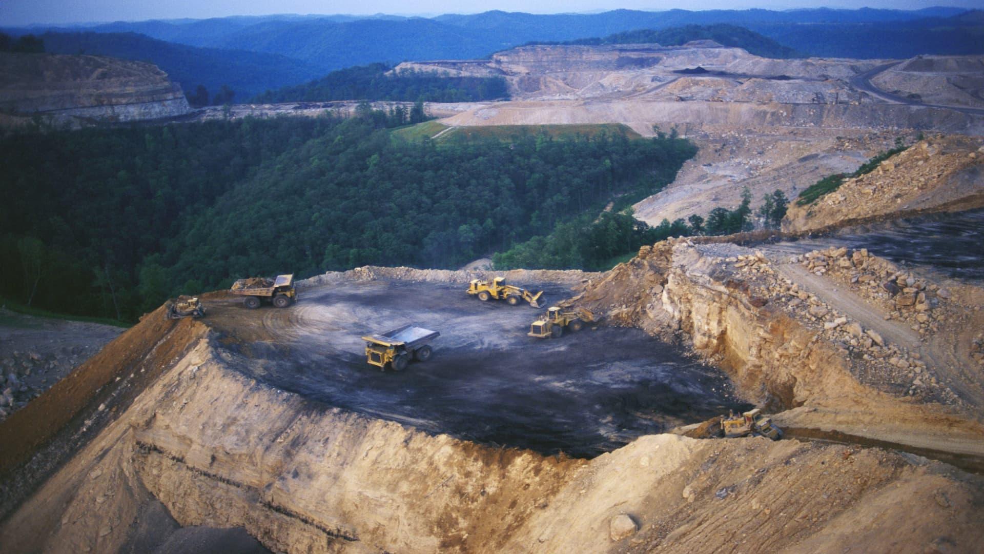 A Kentucky mountaintop strip mine.
