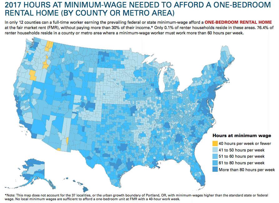 America housing map July 2017