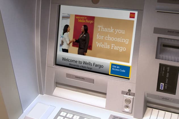 Handout Wells Fargo Cardless ATM Machine
