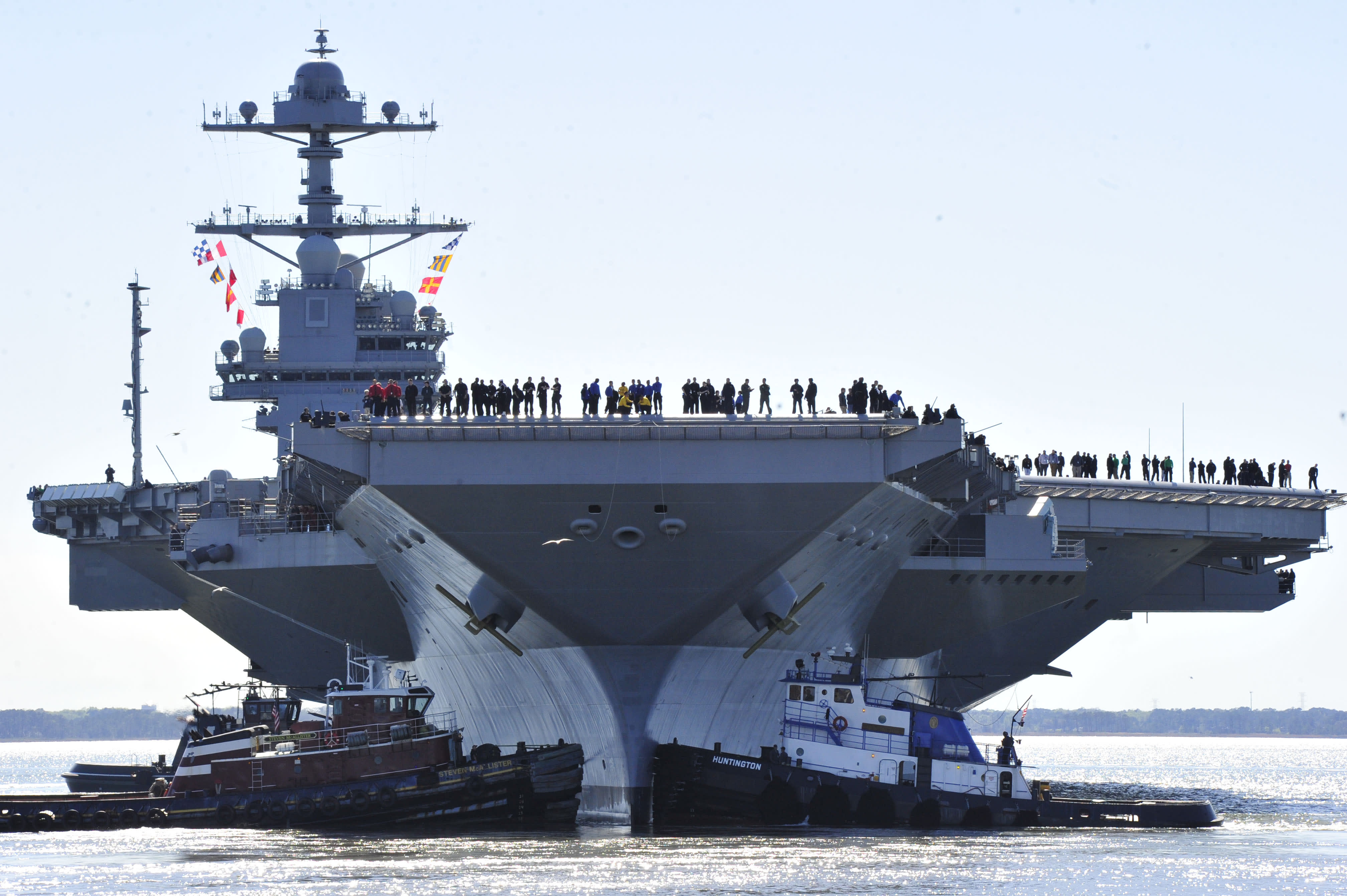 Exceptional The Navyu0027s Put Down A U0027significant Betu0027 On The $13 Billion USS Gerald R Ford,  Which Some Say Is A Risky Gamble