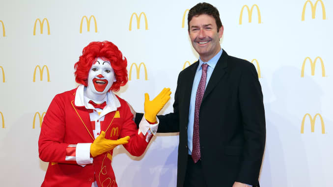 Subs: Ronald McDonald Steve Easterbrook CEO of McDonalds