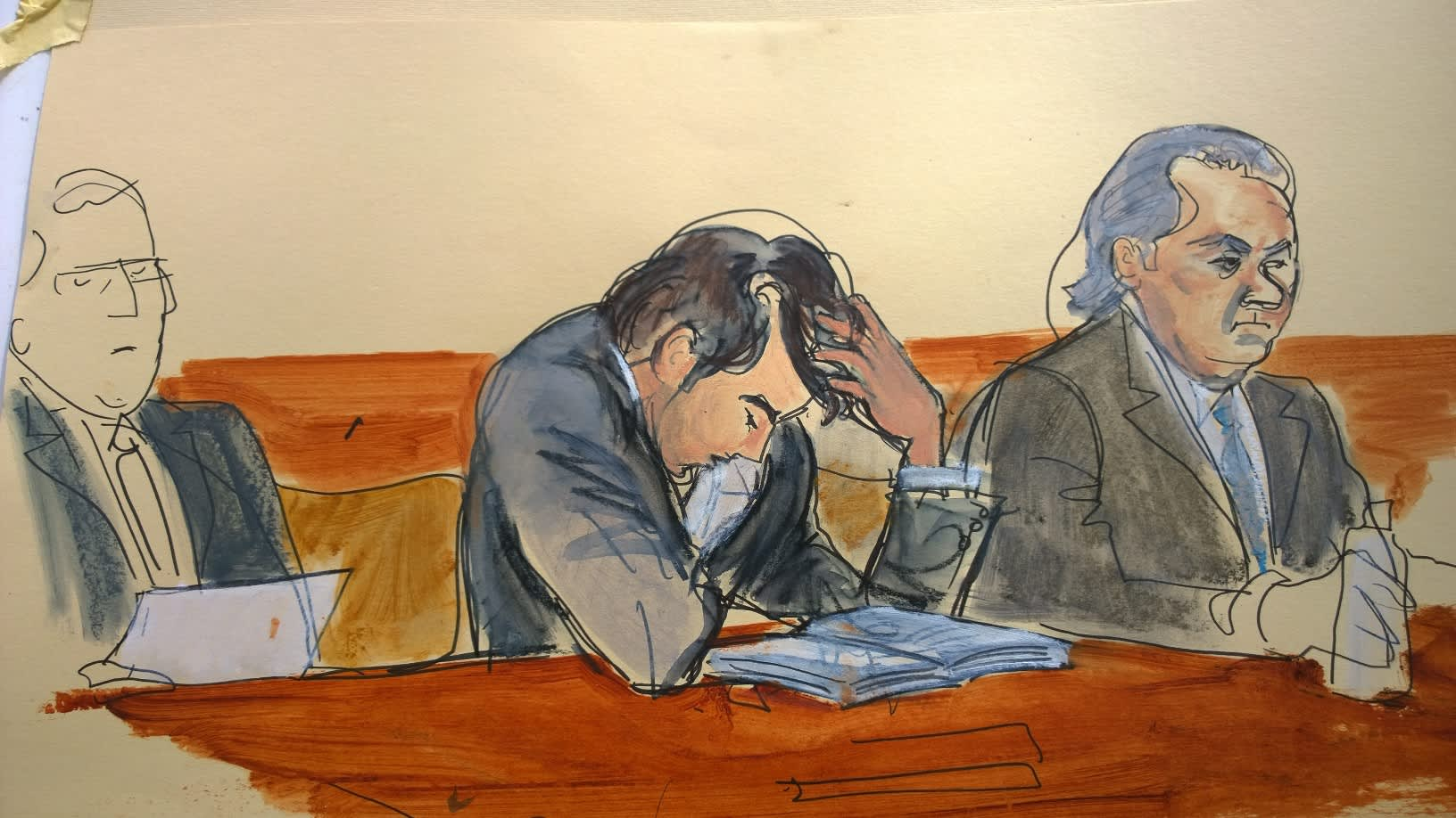 CNBC: Martin Shkreli in courtroom 170728