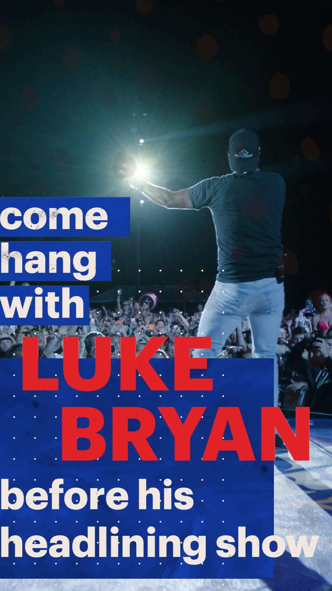 Handout Luke Bryan Artist Pass