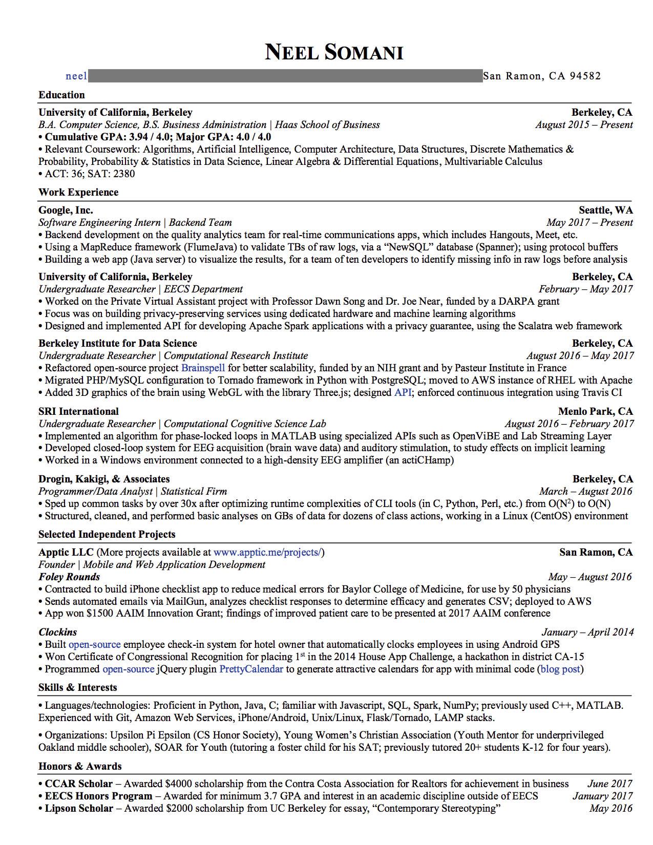 One time use: Glassdoor resume