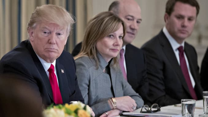 Premium: Donald Trump Mary Barra Gary Cohn Strategic and policy Forum 170203