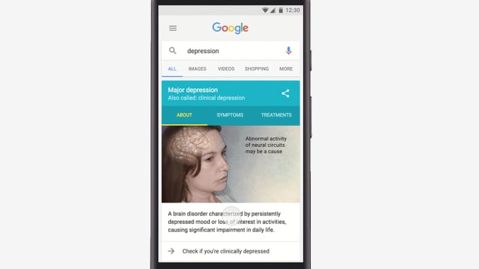 There is now a Google test for depression and mental ill health