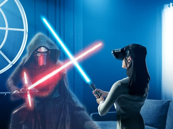 Jedi Challenges AR Headset Augmented Reality w// Lightsaber Lenovo Star Wars