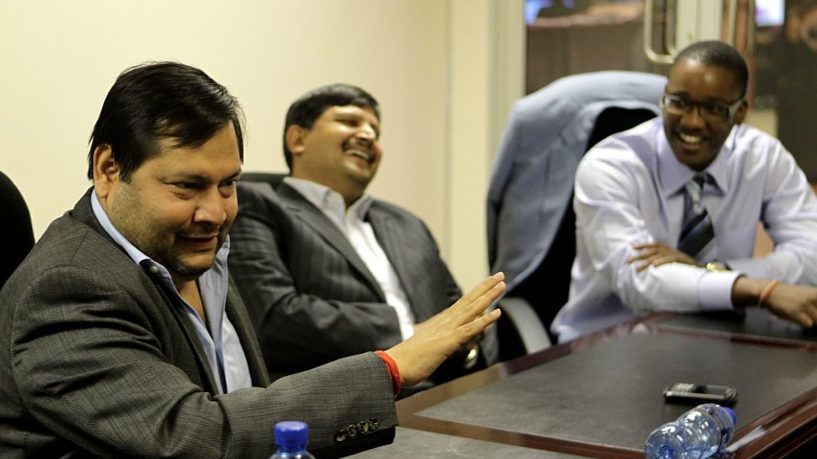 South African Police Raid Gupta Home Crime Scene