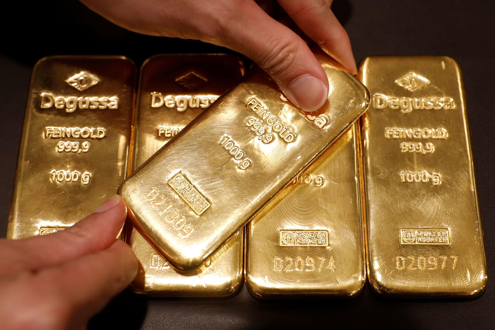 Gold eases on US-China trade optimism; holds above $1,400