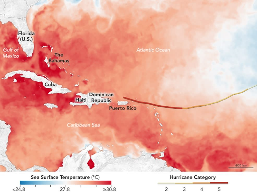 NASA Hurricane Irma ocean temp
