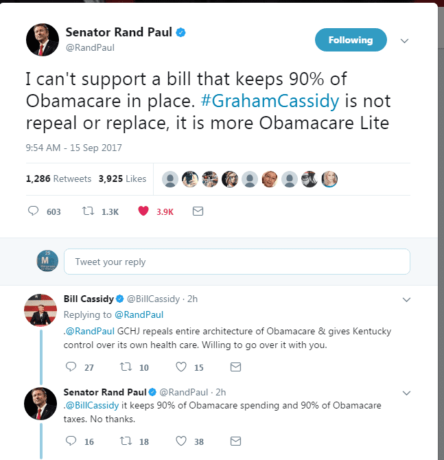 ONE TIME USE: Rand Paul twitter post