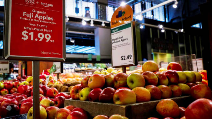 Amazon makes Whole Foods' prices more competitive with