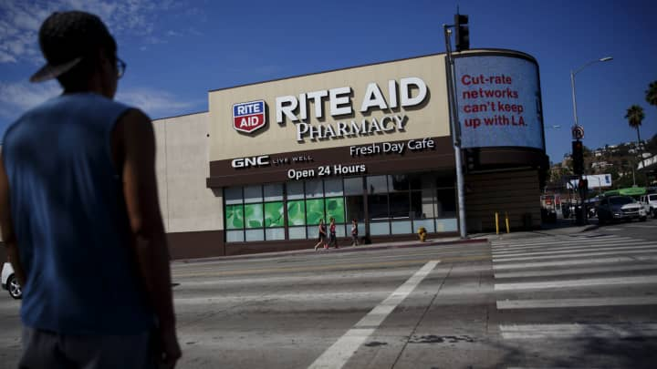 Rite Aid shares swing on earnings miss
