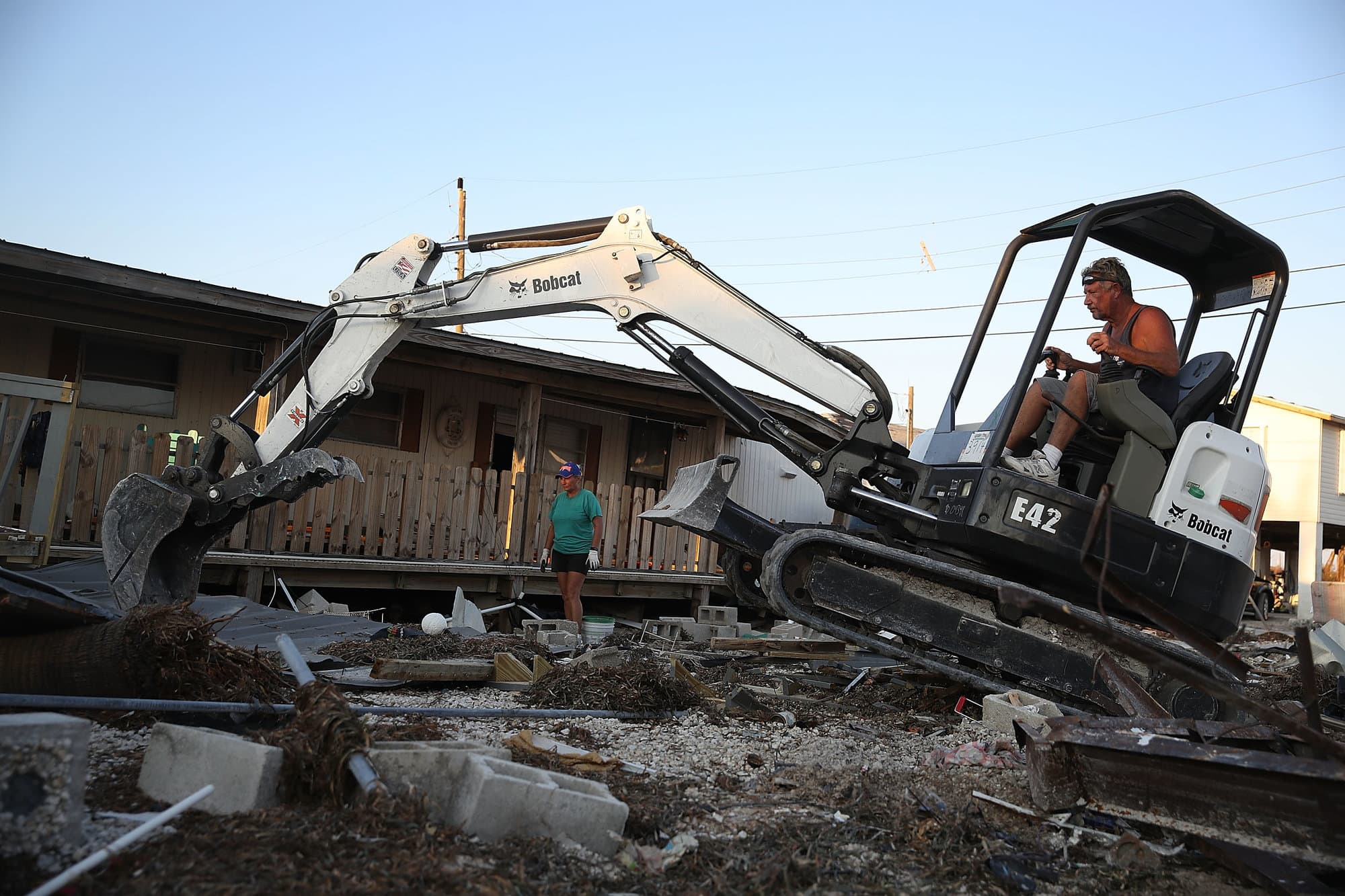 Hurricane Irma seriously damaged 65 percent of all homes in the Florida Keys, said FEMA. Pictured, Marathon Key.