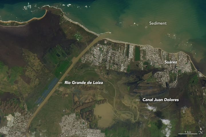 NASA image of flooding in Puerto Rico after Hurricane Maria