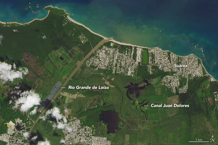 NASA image of Puerto Rico before Hurricane Maria