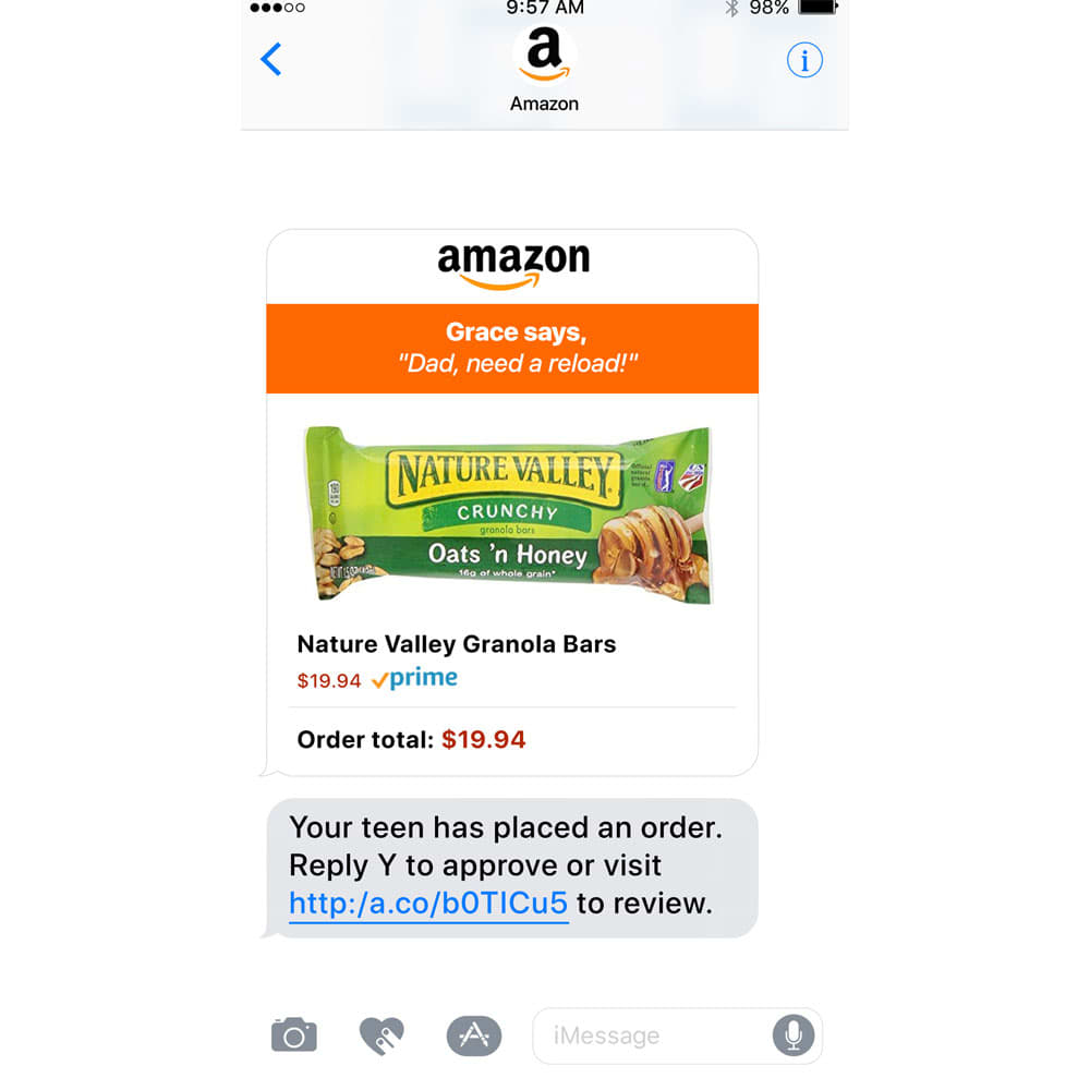 ONE TIME USE: Amazon ad Nature Valley Granola Bars