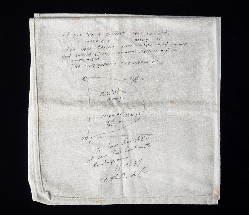 Handout: Laffer curve napkin