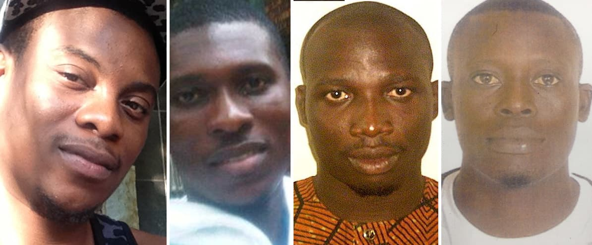 Nigerian Money Scam: These 4 defendants remain at large, 3 with last known location in Nigeria.