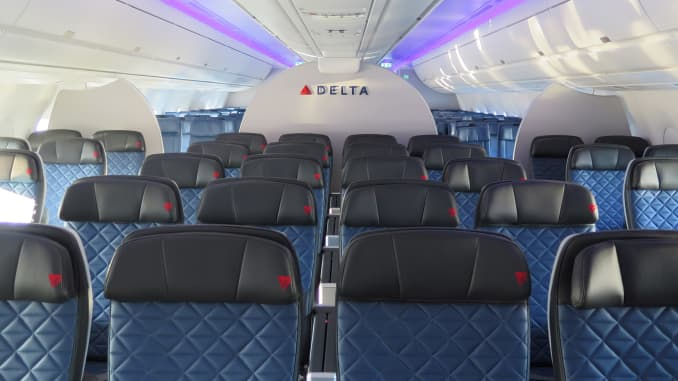 CNBC: Delta unveils first Airbus A350: Delta Premium Select 001
