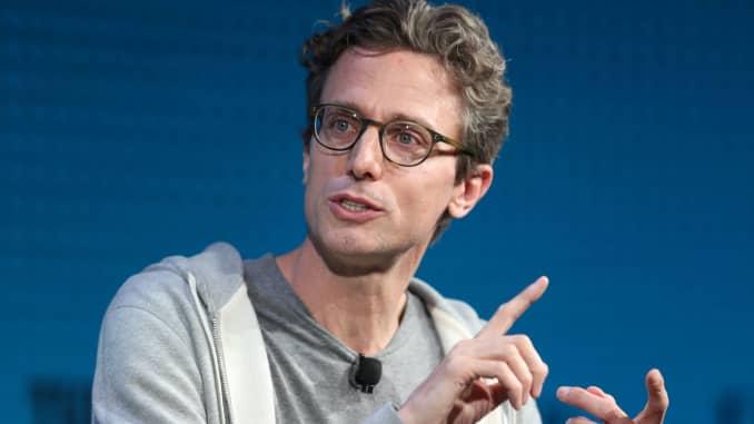 Jonah Peretti, Pendiri dan CEO, Buzzfeed, berbicara di Wall Street Journal Digital Conference di Laguna Beach, California, AS, 18 Oktober 2017