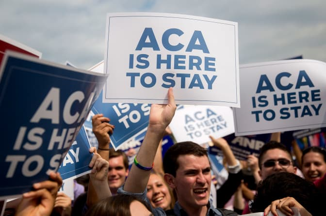 GP: ACA is here to stay Obamacare tax subsidies 150615 protesters Supreme Court