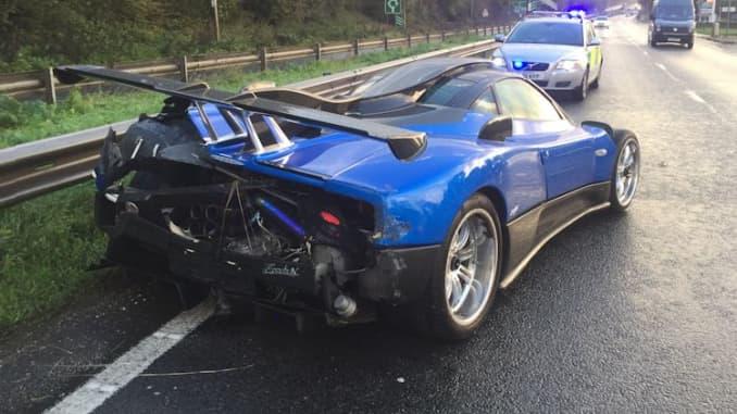 Pagani Zonda One Off 1 9 Million Supercar Damaged In Uk Crash