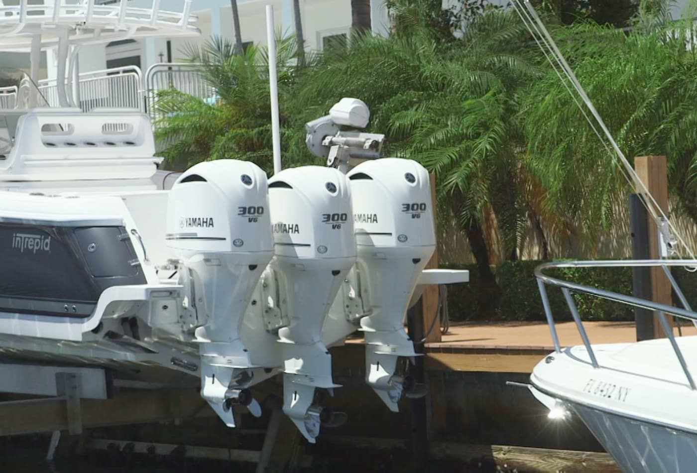 Organized thieves target expensive boat engines