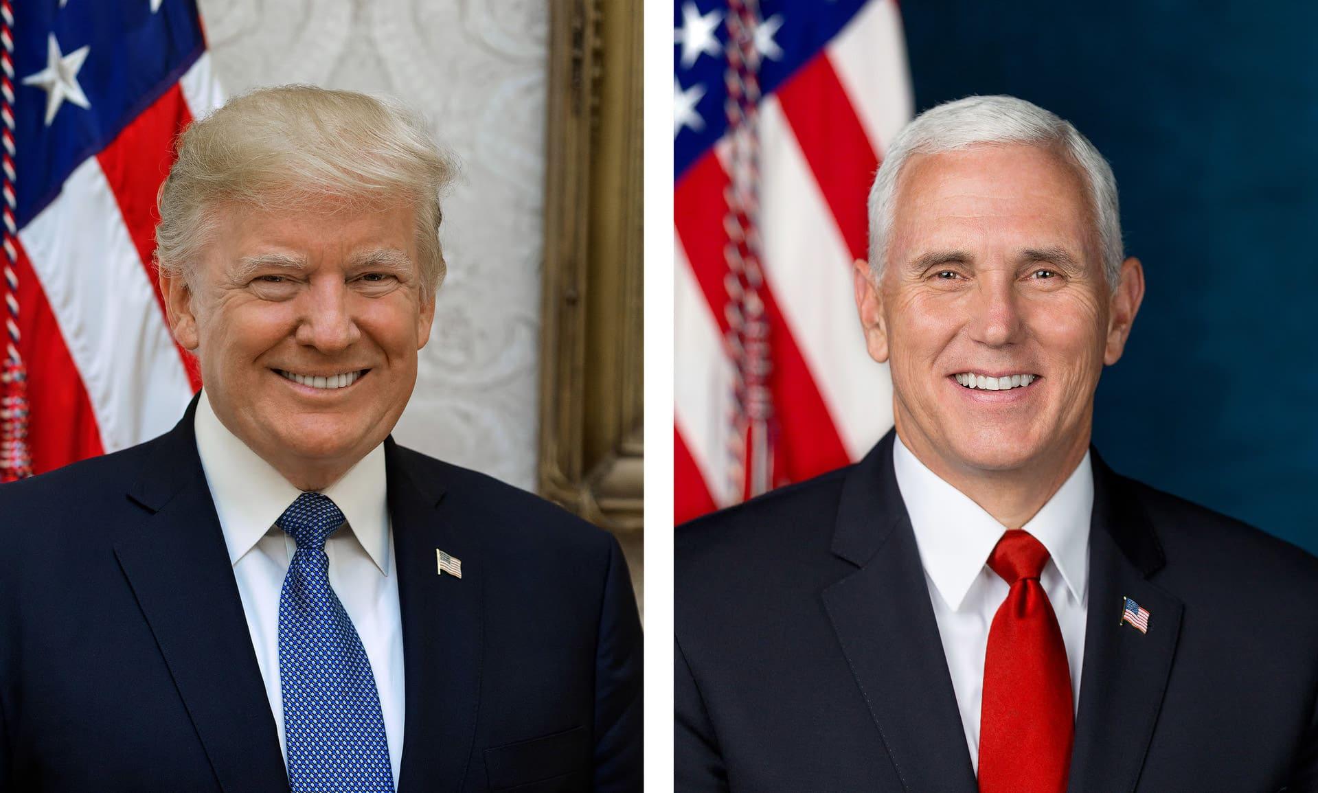8x10 Official Secret Service White House Portrait President Donald Trump Photo