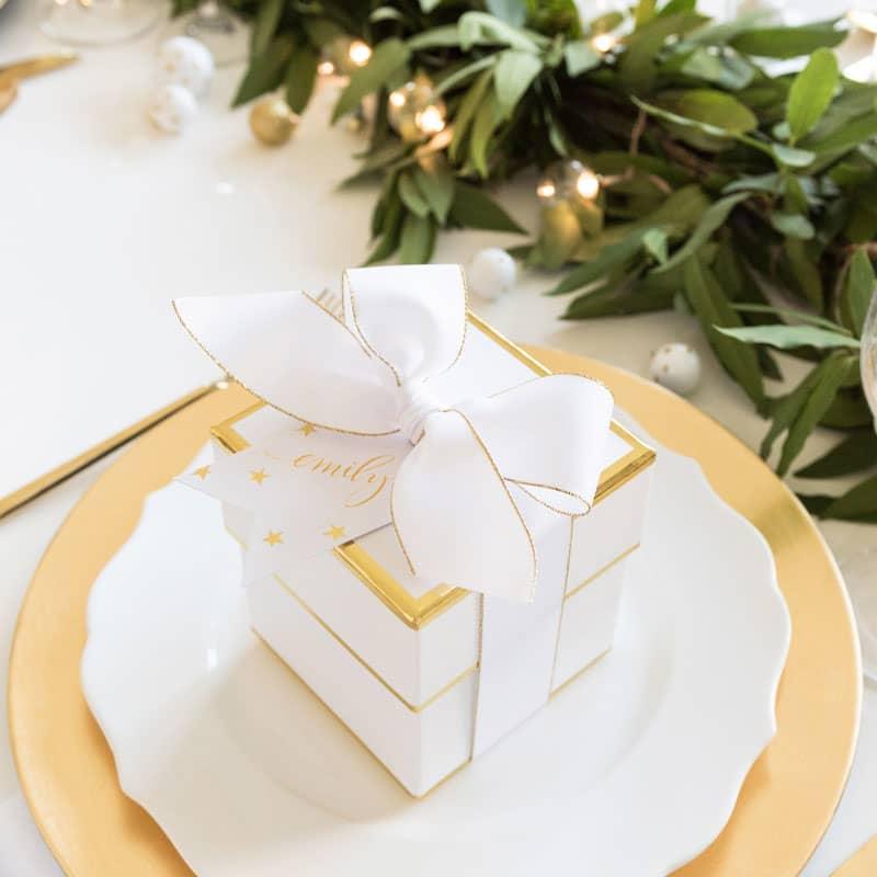 ONE TIME USE: Sugar Paper white box