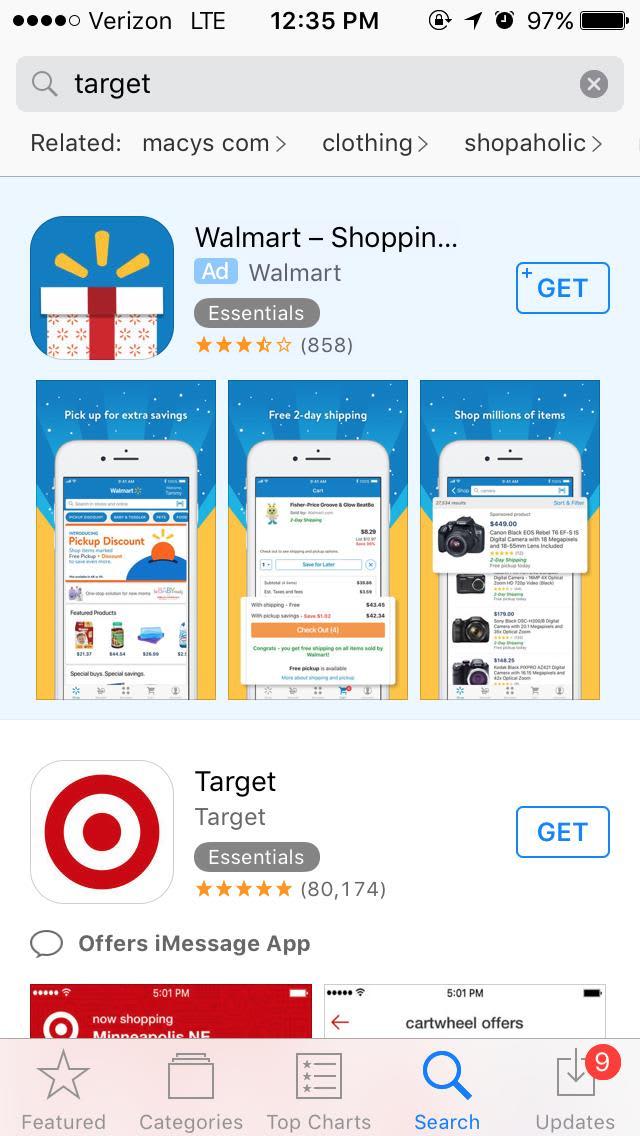 Handout Walmart ad on Target CASTILLO 171103