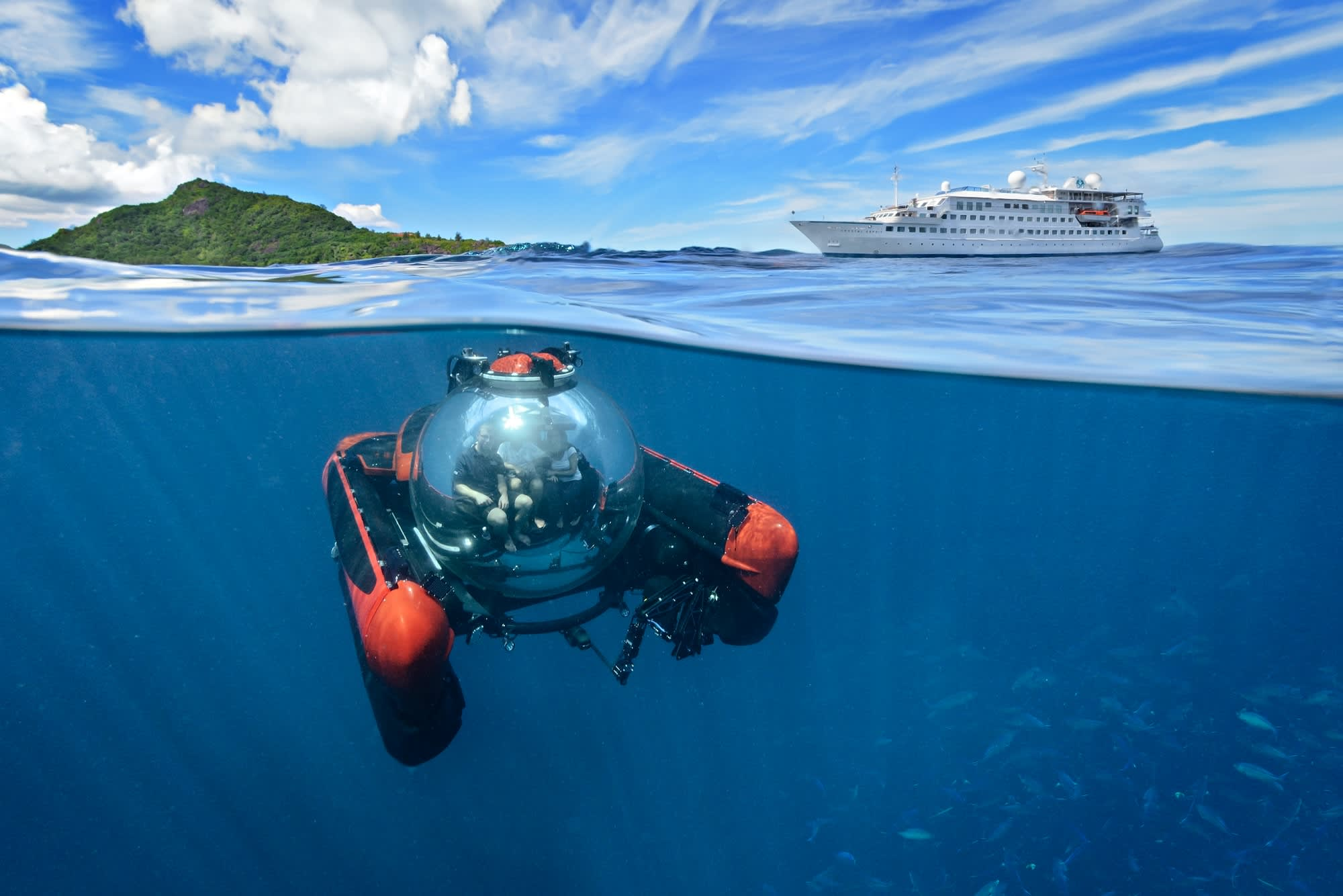 Crystal Cruises offers a ride in a $2 9 million personal submarine