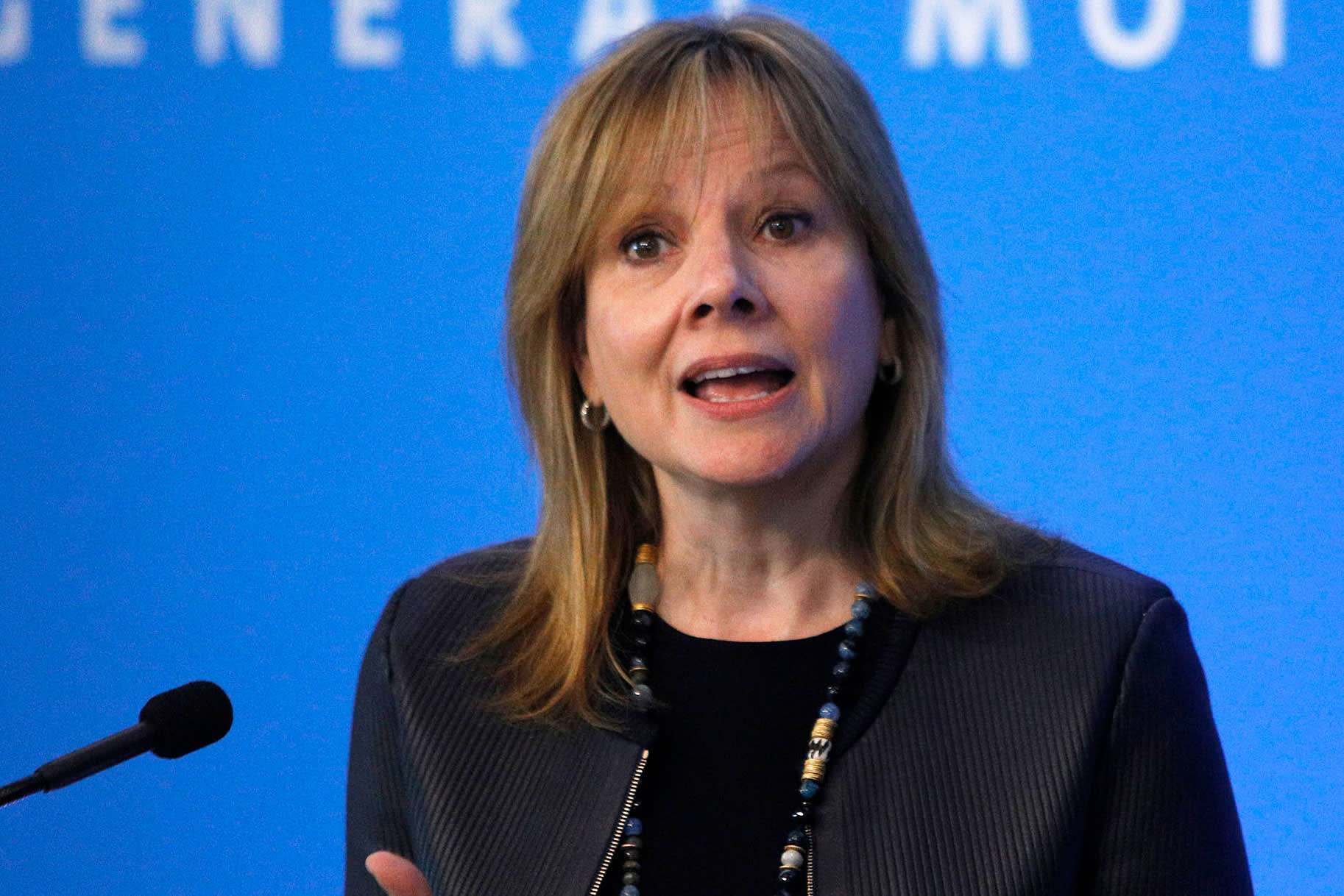 GM's CEO deflects questions about Tesla's Cybertruck, but sees electric pickups as significant