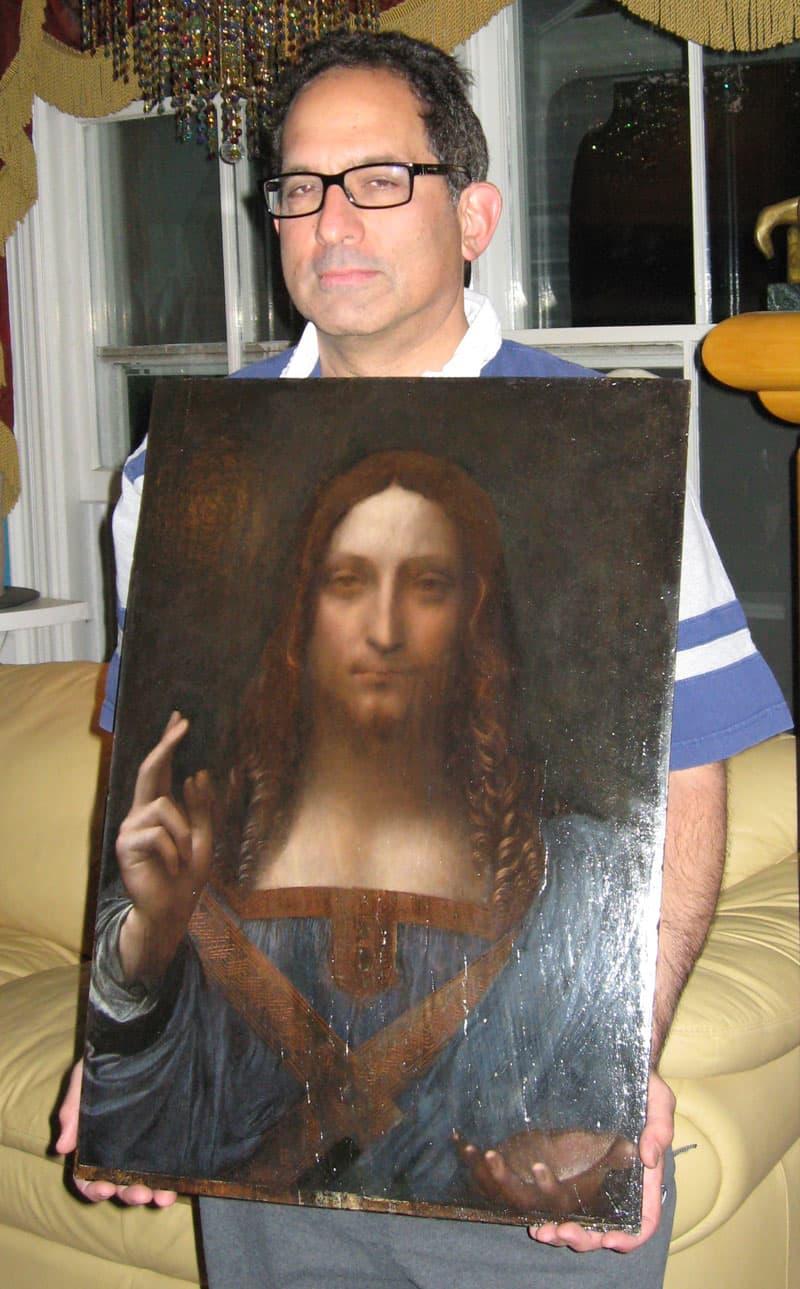 ONE TIME USE: Robert Simon with Salvator Mundi by Leonardo da Vinci