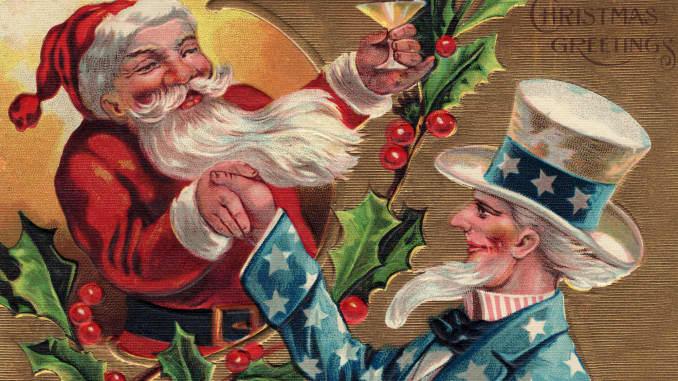 Santa and Uncle Sam